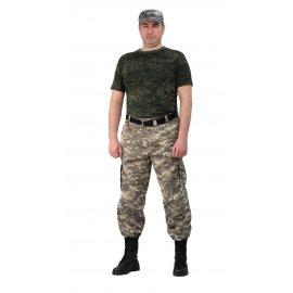 брюки Захват (твилл пич) кмф темно-серая цифра БРЮ765-К183-03
