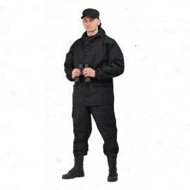 """костюм """"Горка 3"""" палатка рип-стоп черный КОС288-280РС"""