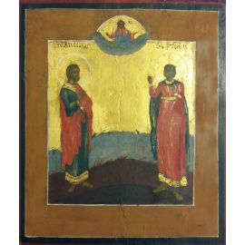 """Икона """"двое святых"""" Александр и Артемий 323"""