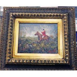 """Картина """"Лошадь с всадником в красном сюртуке"""" 367"""
