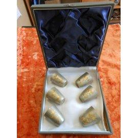 Набор рюмок 1950г, Прибалтика, серебро 875пр, 262г 389