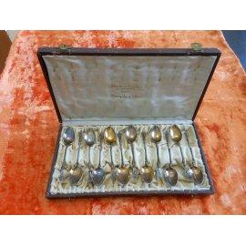 Набор чайных ложек 19 век, серебро 800пр., 118гр. 391