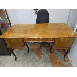 Стол письменный с креслом, двутумб.,40-50гг, орех 65