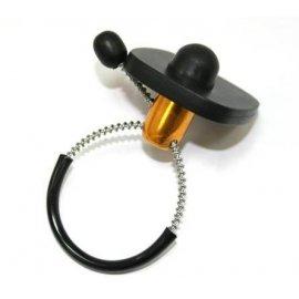 Антикражный датчик плобма-клипса для бутылок, черный, с тросиком