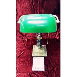 Лампа настольная  камень, металл, зелен.цвета 2