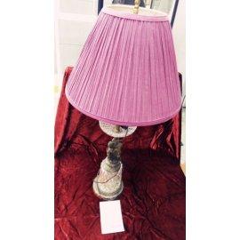 Лампа настольная металл, стекло, ткань сирен.цвета 3