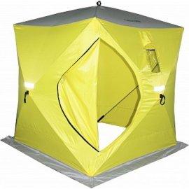 Палатка зимняя Сахалин 2, 150х150х170см цвет желтый/серый