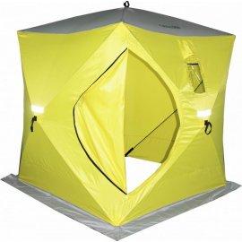Палатка зимняя Сахалин 4, 180х180х200см цвет желтый/серый