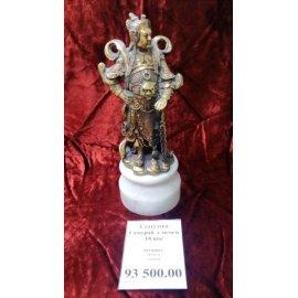 Статуэтка Самурай с мечем бронза, камень 17