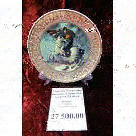 Тарелка Наполеон на коне фарфор 23